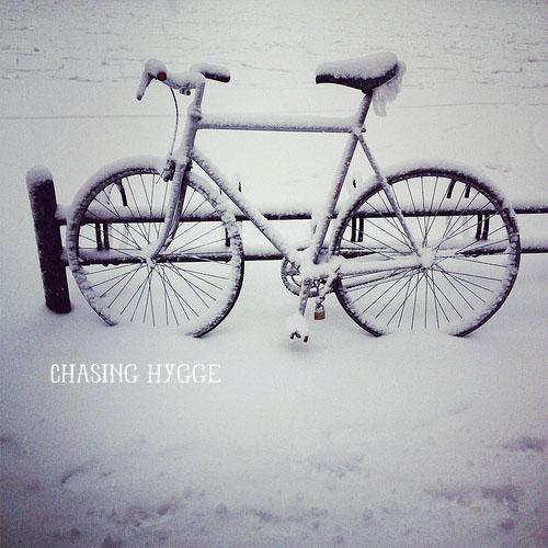 andare in bici con la neve?